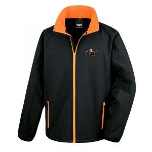 Black & Orange Softshell Jacket