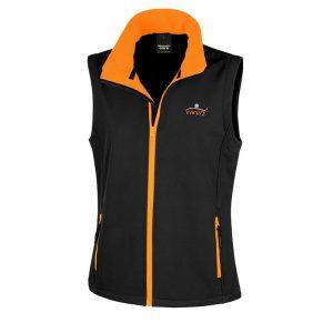 Ladies Black & Orange Gilet
