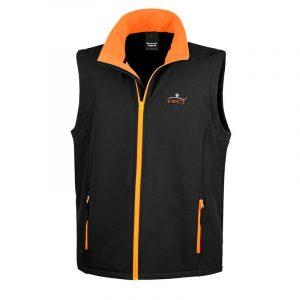 Black & Orange Gilet